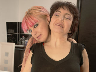 Two hot old and young lesbians eat each others pussies