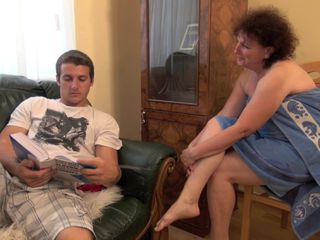 Big ass granny gets laid with her nephew