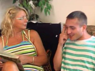 Mature feels young again after fucking with her step son