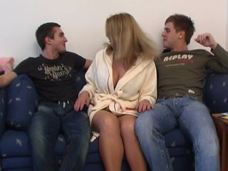 Step mom in scenes of hardcore sex with both her lovers