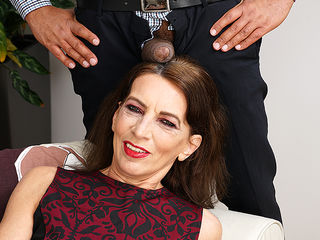 This naughty mature lady is ready for her black surprise