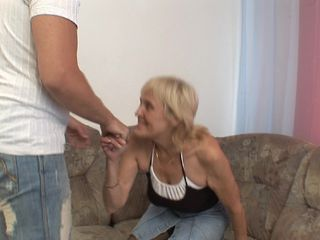 Young hunk finally gets to deep fuck his grandma