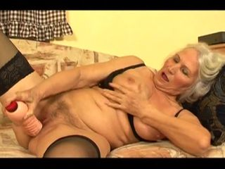 Granny deals nephews big cock in insane modes