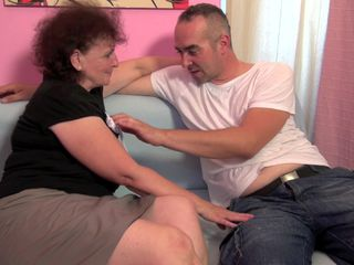 Mature with big tits fucked merciless by the nephew