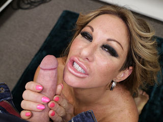 Perverted MILF Farrah Dahl will do anything to maintain her youthful appearance, and she needs cream from young boys and who better than to extract it from that Joey. Hes young and virile and he is exactly what the milf needs. She pumps his throbbing penis and shoots his war white load across her face and tits.