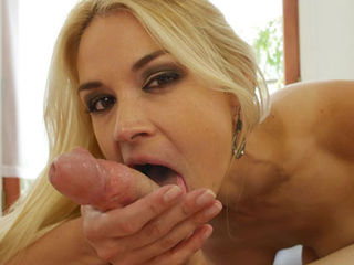 Sarah Vandella stimulates your sensitive skin with just her tongue - twirling around your throbbing cockhead - she hasnt warped her lips and sucked just yet. She wants to stimulate you, to control you and she knows exactly where your sweet spots are. She teases your for what seems to be hours,when she wraps her lips firmly around your cock, this almost makes you spurt out your warm seed, but Sarah wants to prolongue your pleasure just a bit longer...