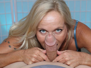 Mrs Dani Dare wants to thank her step-son for the tour of the campus and she knows exactly how to do that. The super horny milf gives that young dude an amazing blowjob, sucking his cock and rubbing his balls, while they are alone at his place. Is the young man gonna cum before his dad comes back?