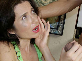 Mom Tatiana is sleeping when young Billy takes notice. The horny guy starts jerking off right in front of her. Tatiana wakes up and see his big boner right in front of her face. Cmon Billy not again! Tatiana knows she needs to jerk it for him, she is so upset she starts crying while his cock erupts all over her face.